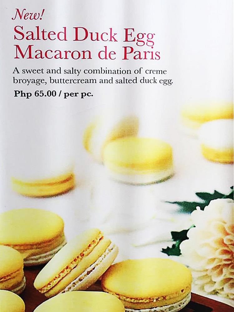 salted egg macaron